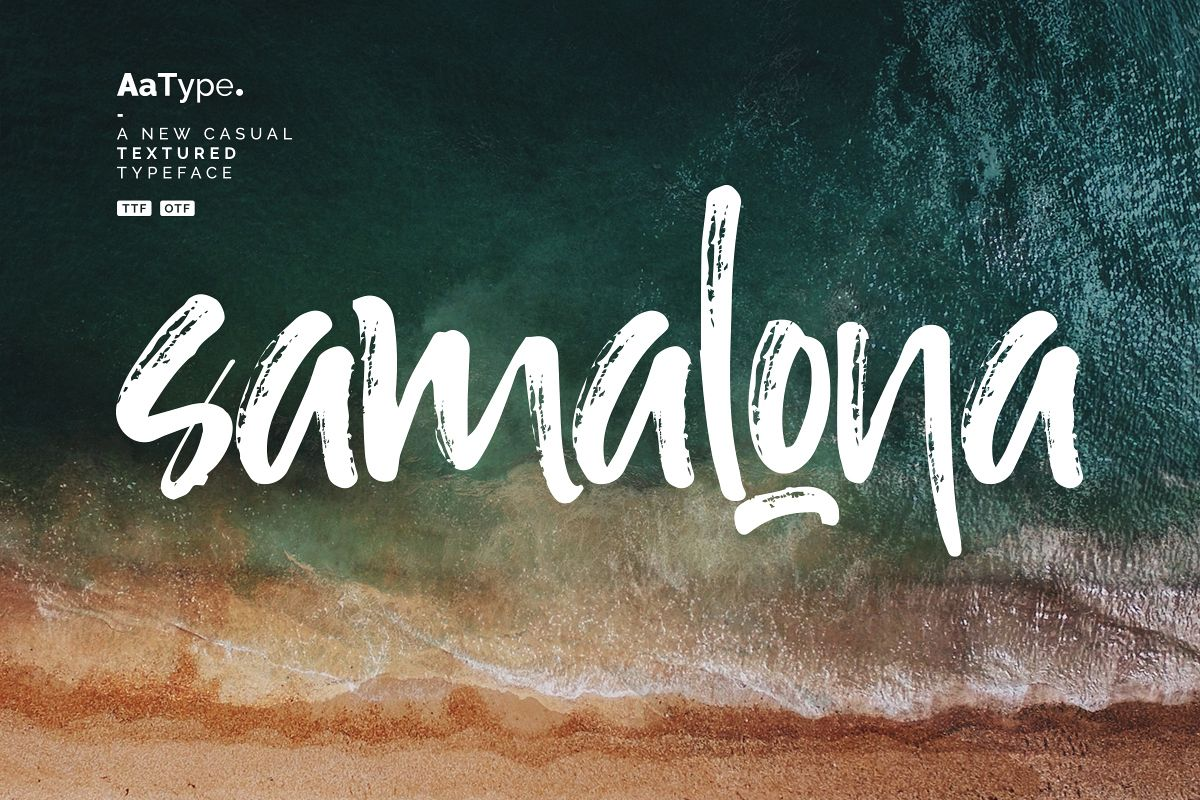 Samalona Casual Textured Font example image 1