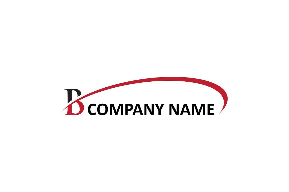 b letter swoosh logo example image 1