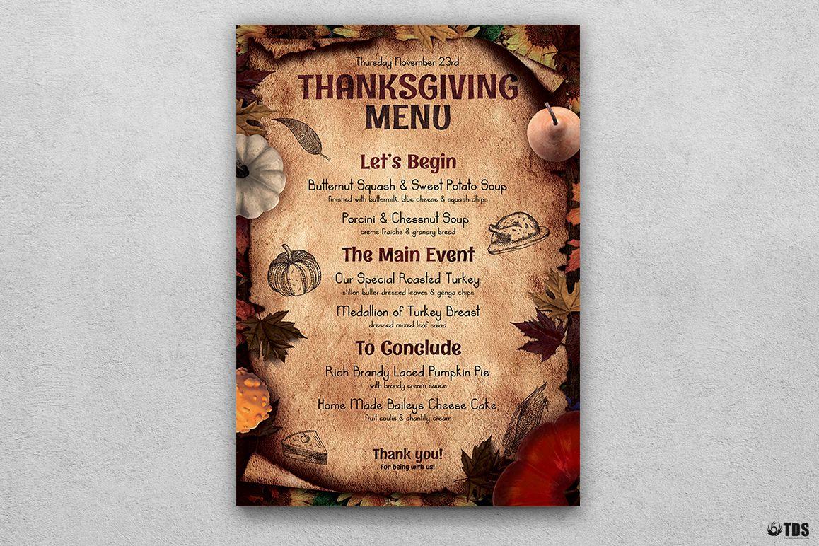 Thanksgiving menu template v2 thanksgiving menu template v2 example image 1 maxwellsz