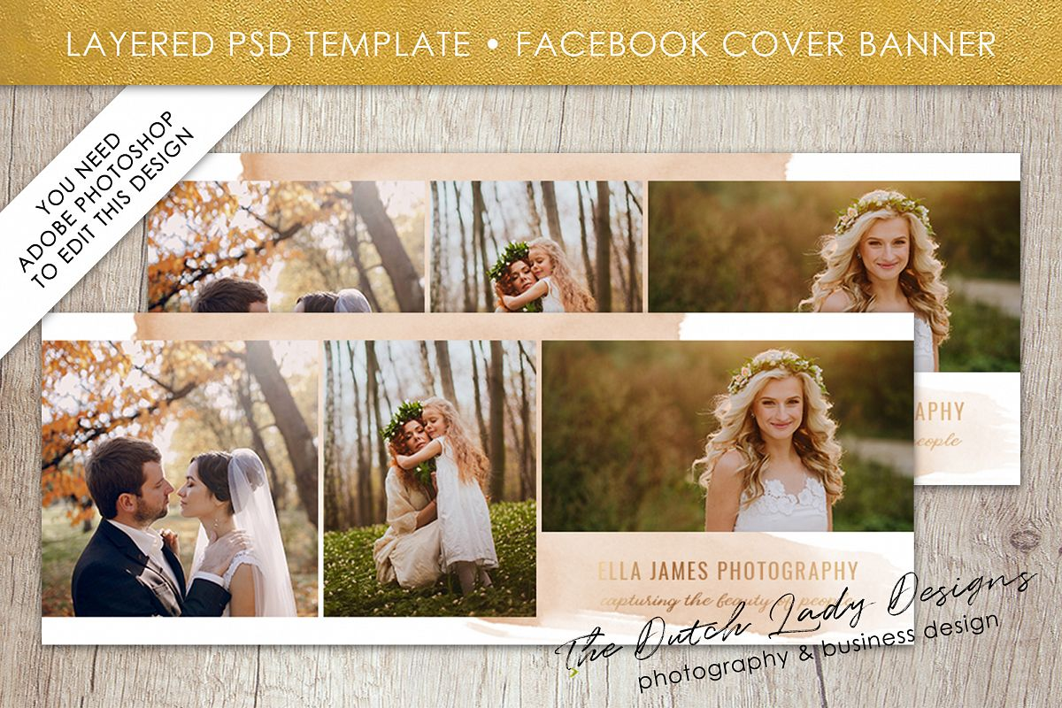 Photography Facebook Cover Banner Template For Adobe Photo Layered Psd Design