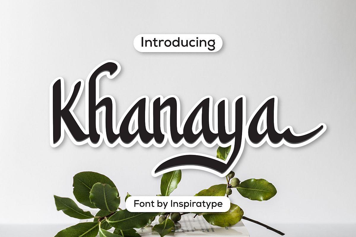 Khanaya - Serif Script Font example image 1