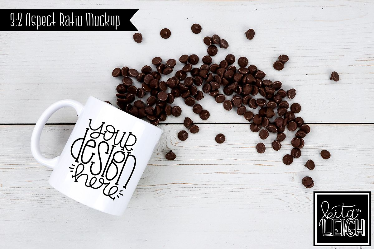 11 oz Mug Mockup with Chocolate Chips example image 1