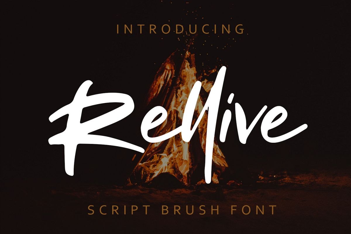Rellive Brush Script Font example image 1
