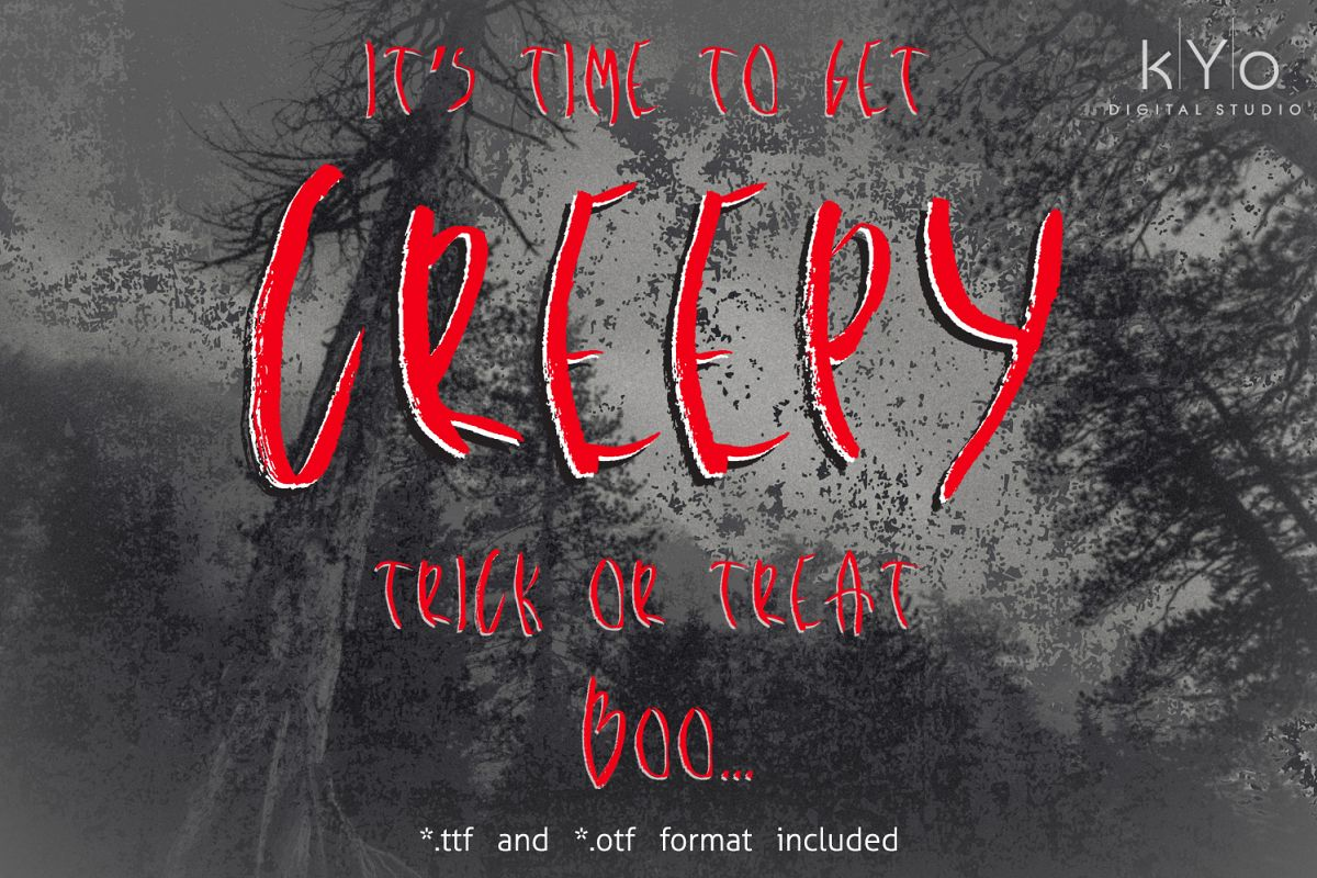 Creepy Brush Halloween font example image 1