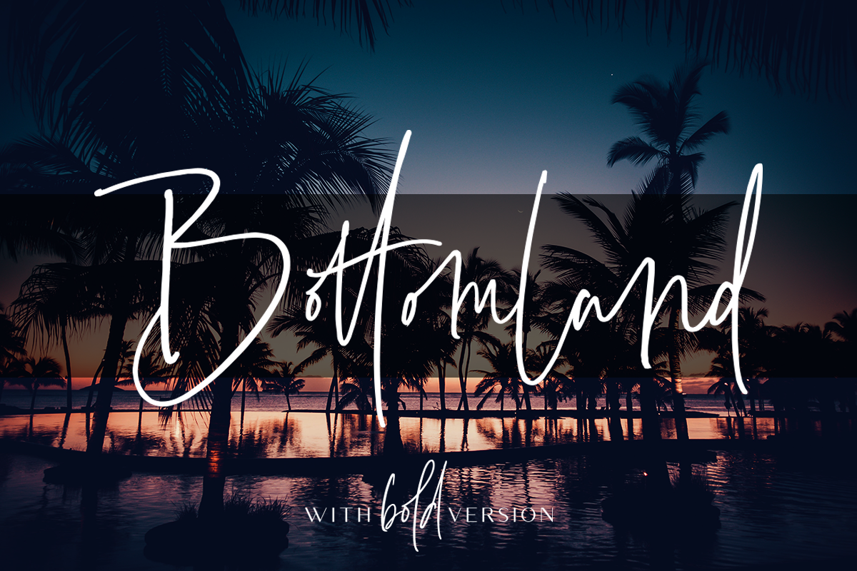 Bottomland - Family Signature Script example image 1