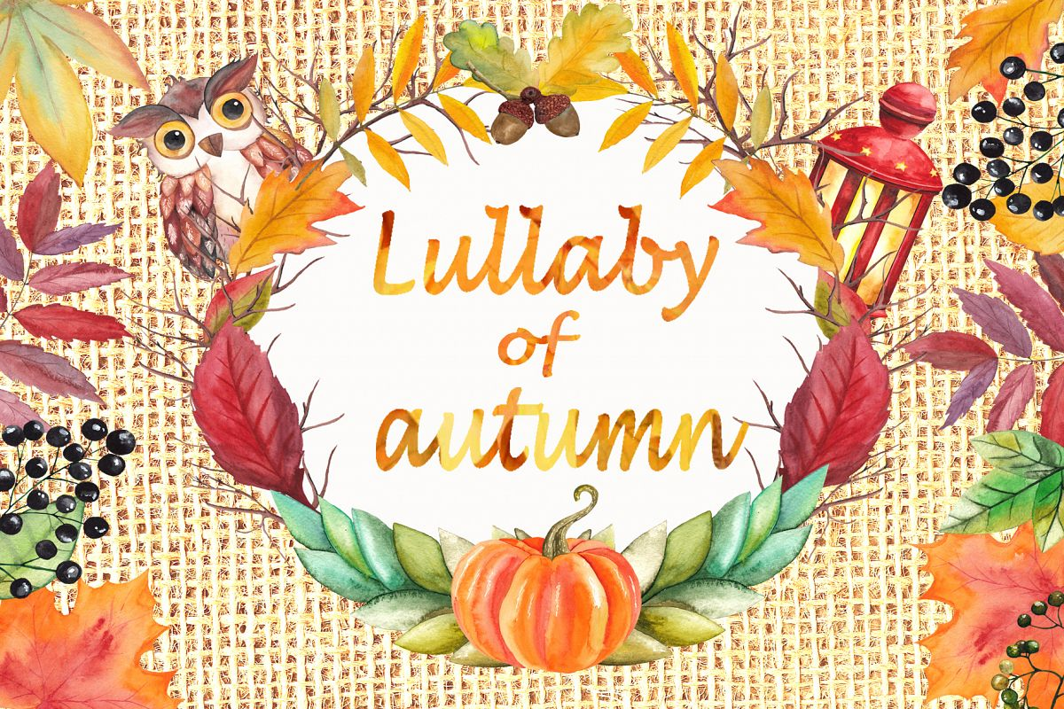 Lullaby of Autumn. Watercolor collection example image 1