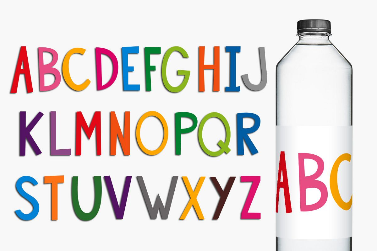 Colorful Alphabet Letters Clip Art Illustrations example image 1