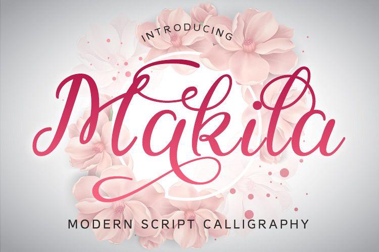 Makila Script example image 1