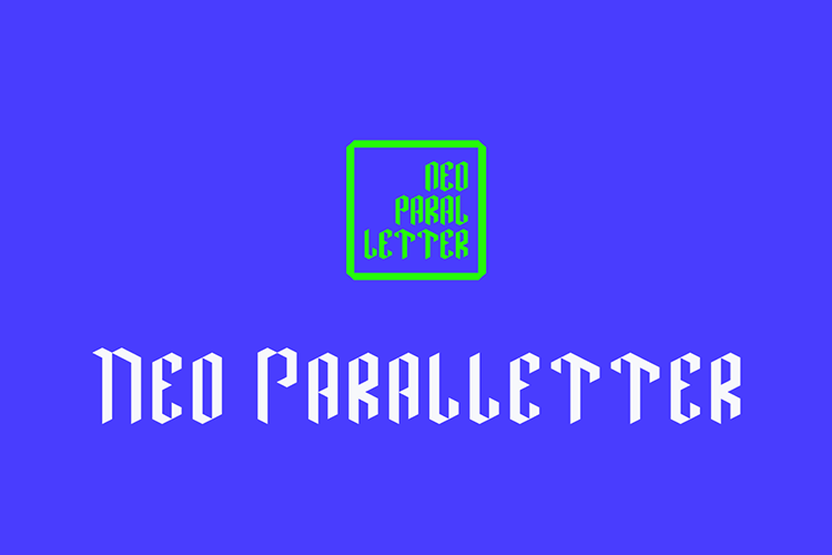 Neo Paralletter Font example image 1
