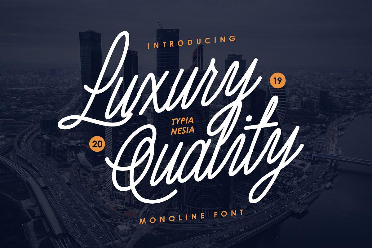 Luxury Quality Font example image 1