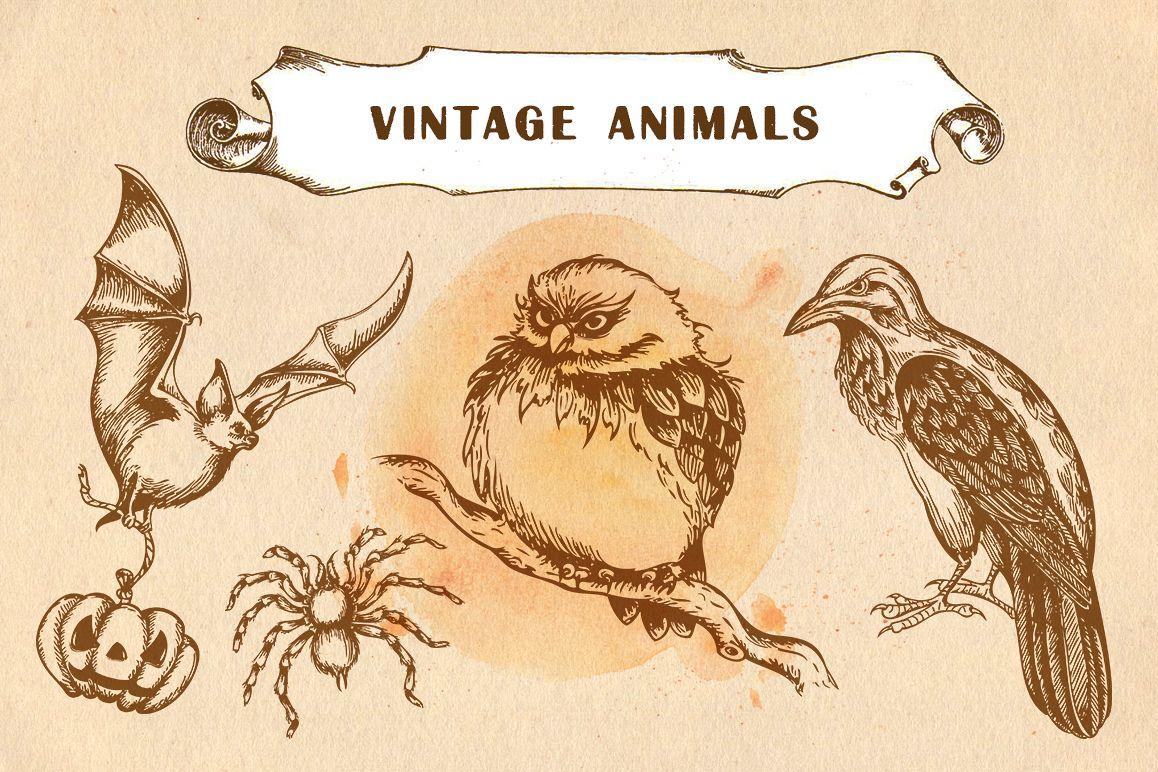 Set of Vintage Animals example image 1