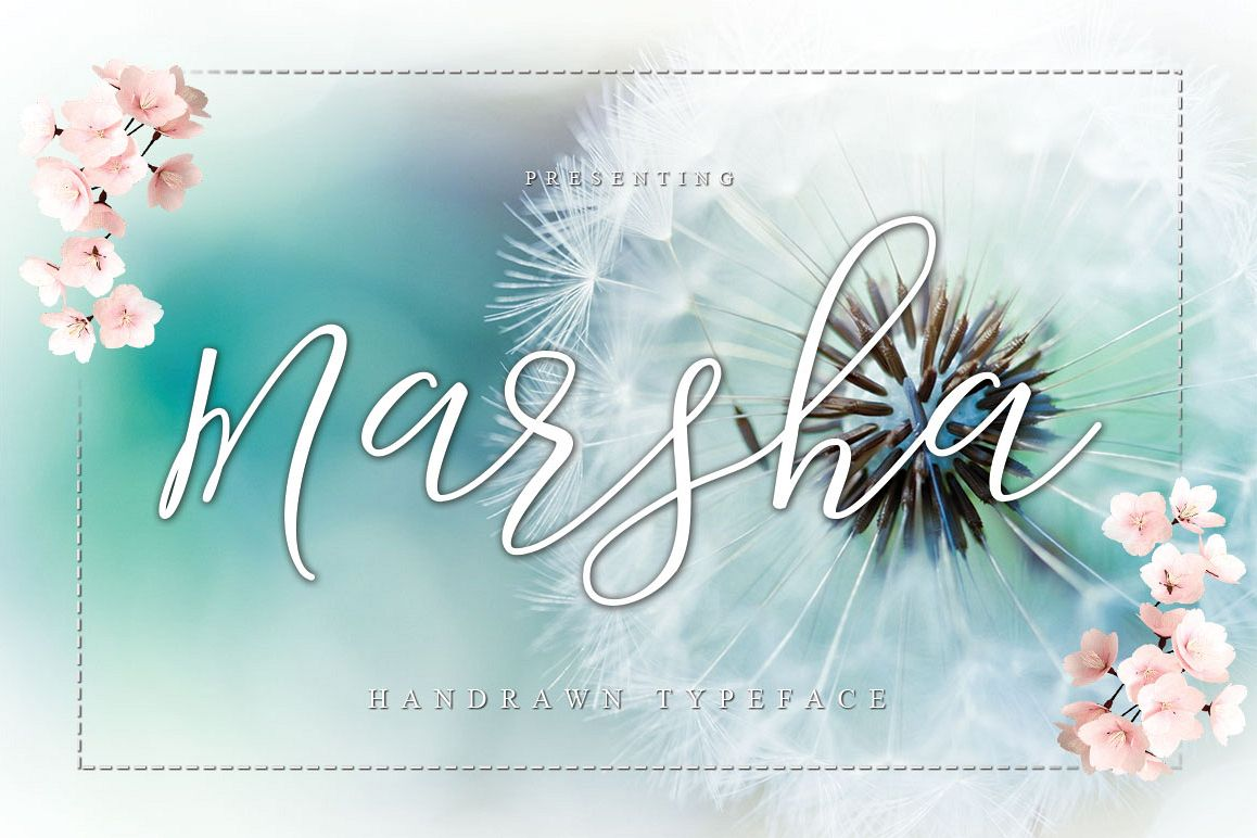 Marsha Typeface example image 1