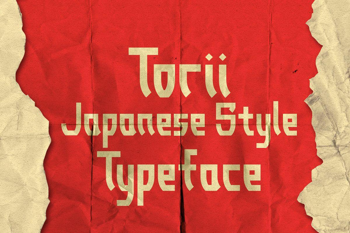Torii - Japanese Style Typeface example image 1