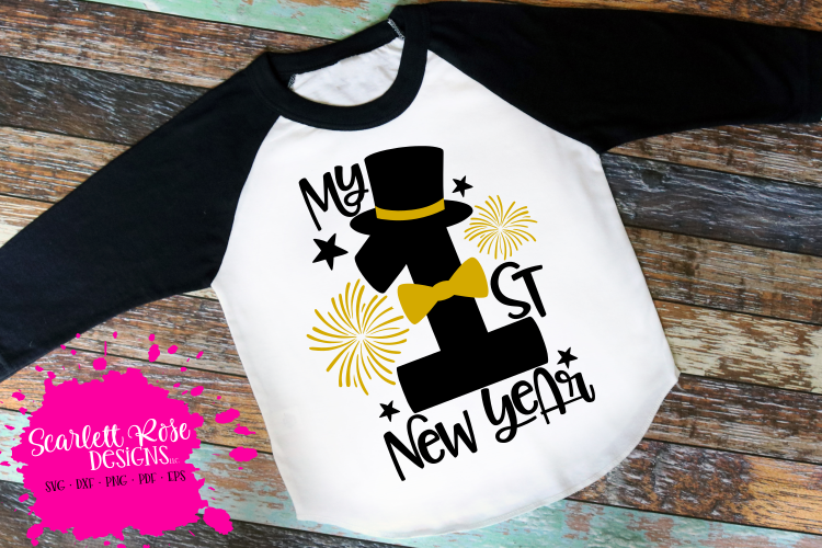 My First New Year - Boy - New Year's SVG example image 1