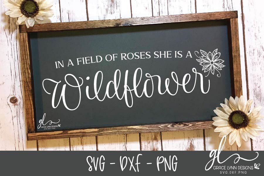 In A Field Of Roses SVG - Digital Cut File - SVG, DXF & PNG example image 1