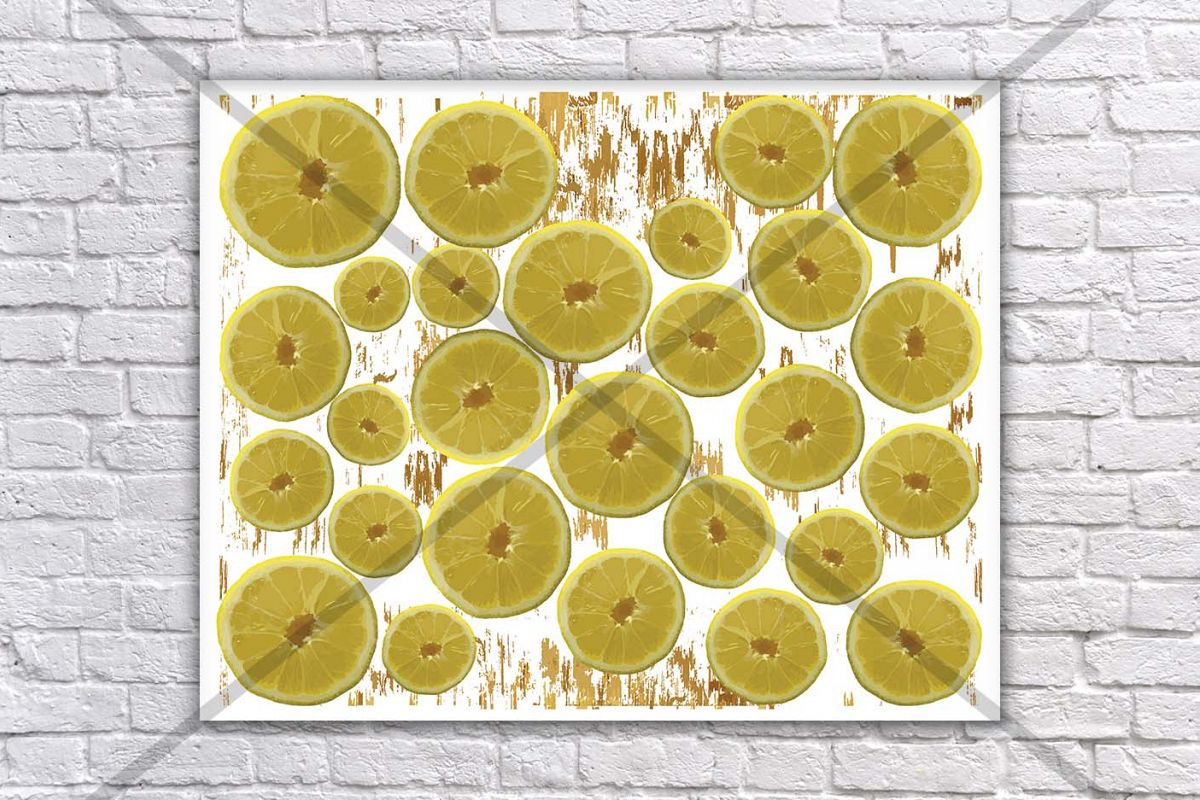 Lemon Print Lime Kitchen Decor Art Food Wall