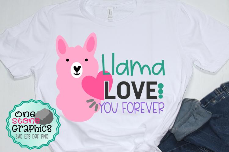 llama love you forever svg,llama svg,valentine's day svg example image 1