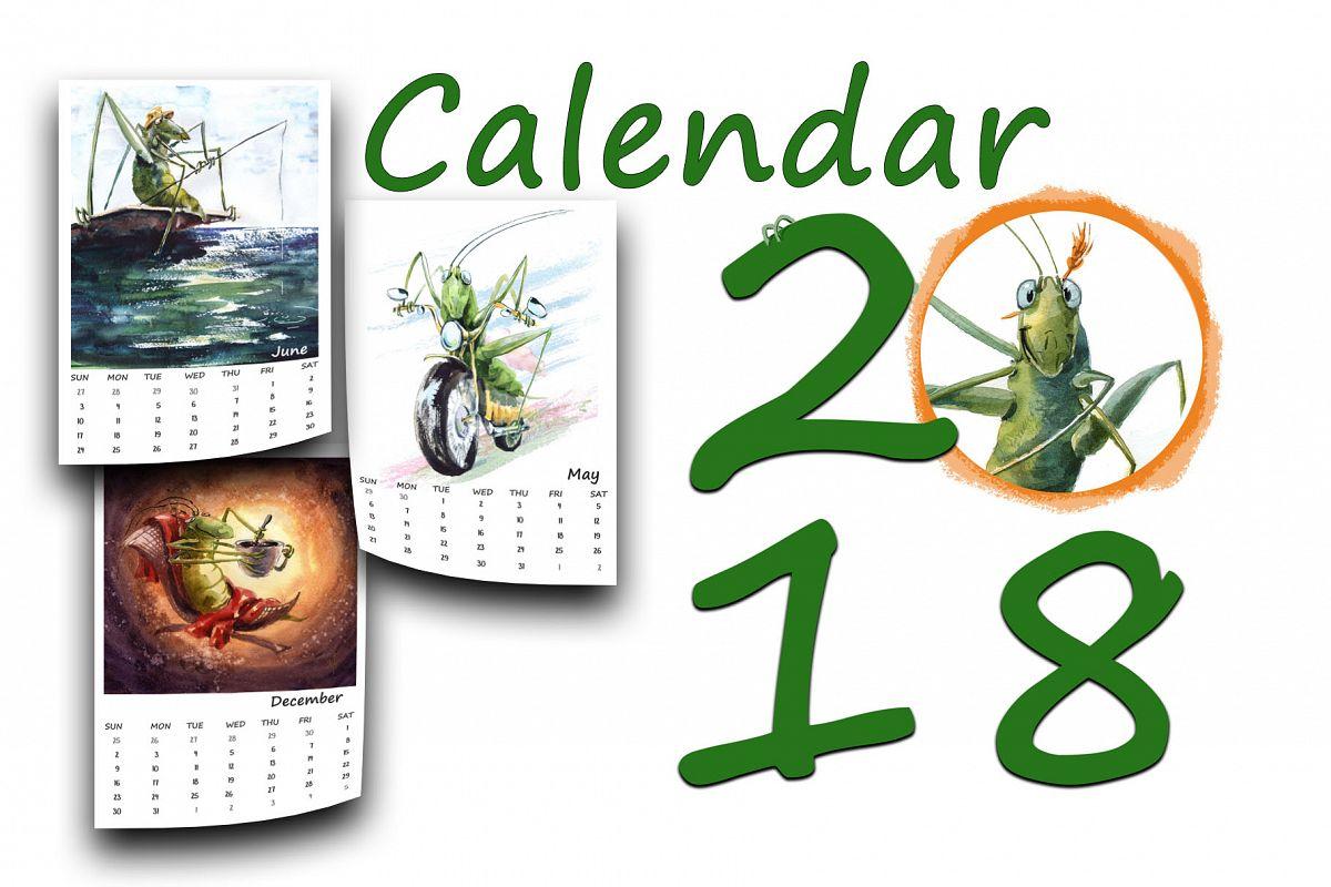Calendar 2018 example image 1