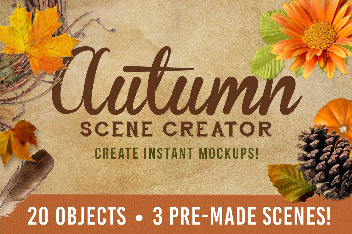 Autumn Mockup Scene Creator example image 1