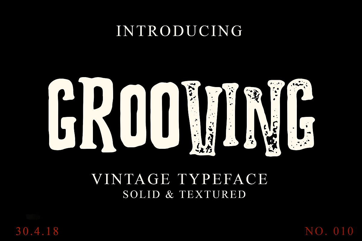 Grooving Vintage Font example image 1