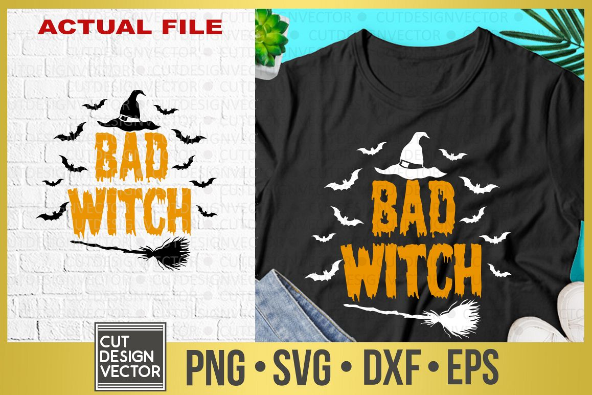 Bad Witch SVG example image 1