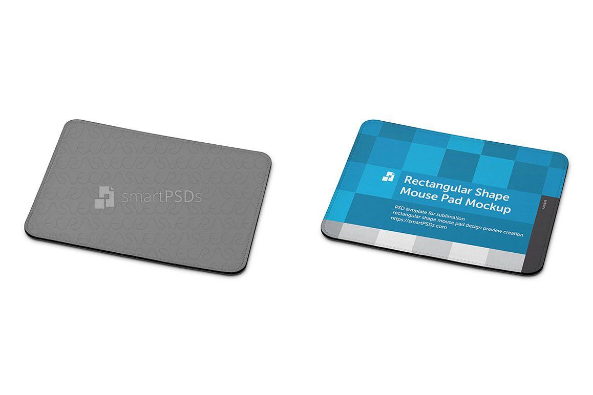 Rectangular Shape Mouse Pad Design Mockup example image 1