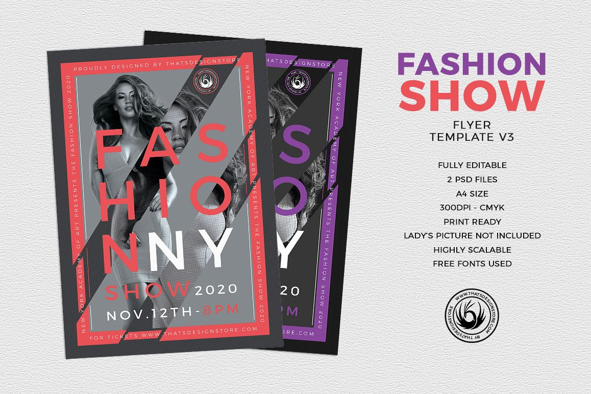 Fashion Show Flyer Template V By TDSto Design Bundles - Fashion show flyer template