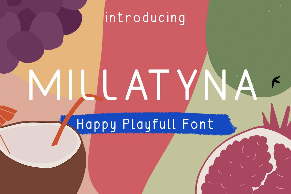 MILLATYNA || Happy Playfull Font example image 1