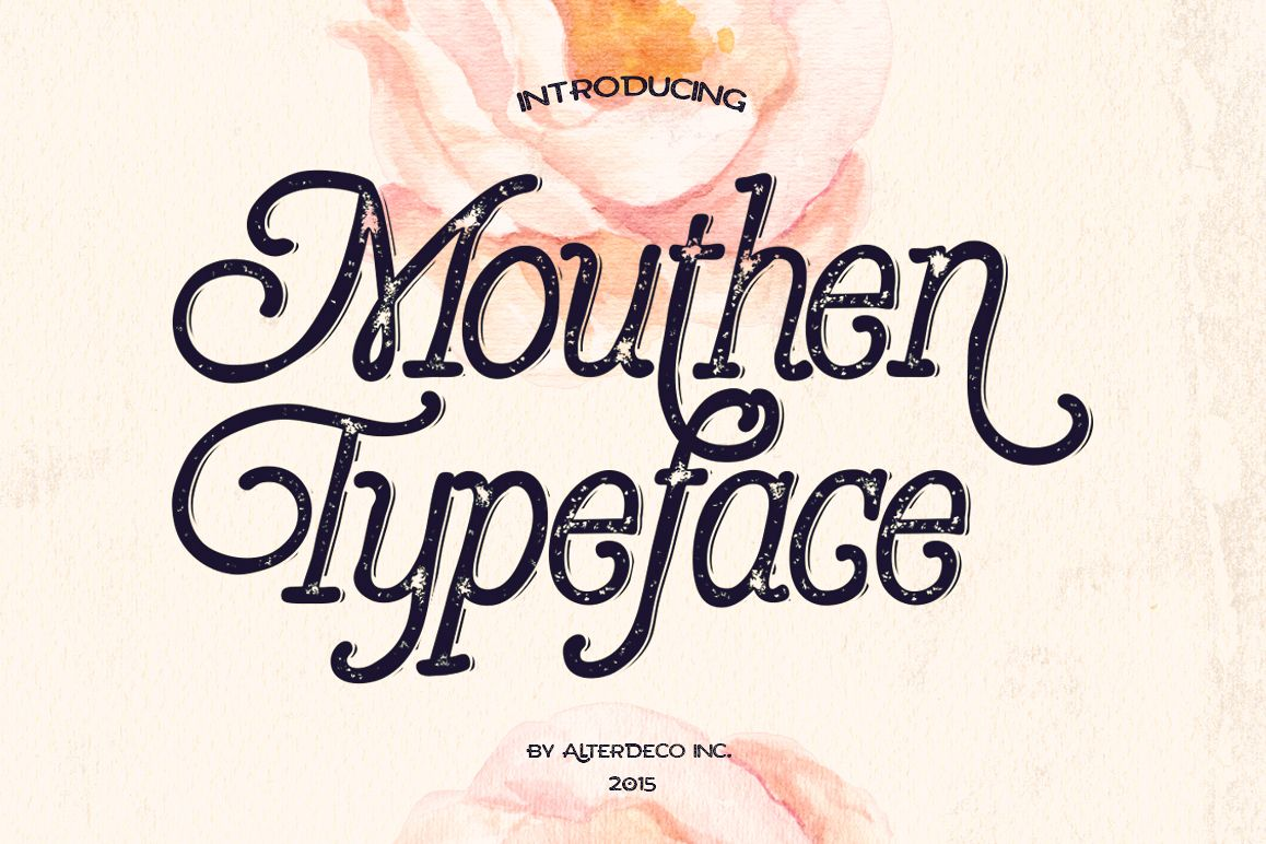 Mouthen typeface example image 1