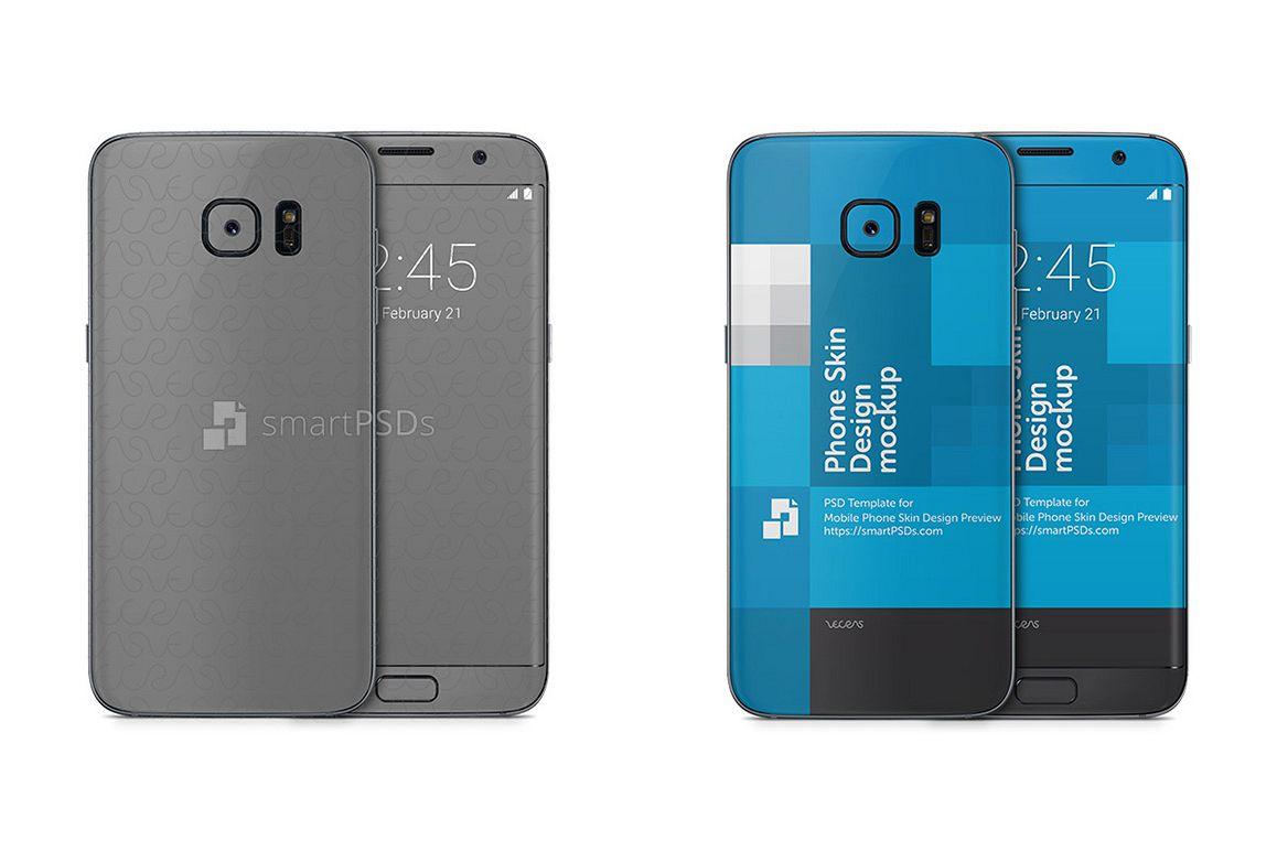Samsung Galaxy S7 EDGE Mobile Skin Design Template example image 1