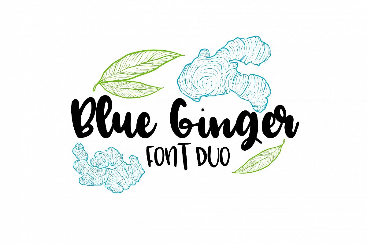 Blue Ginger Font Duo  example image 1