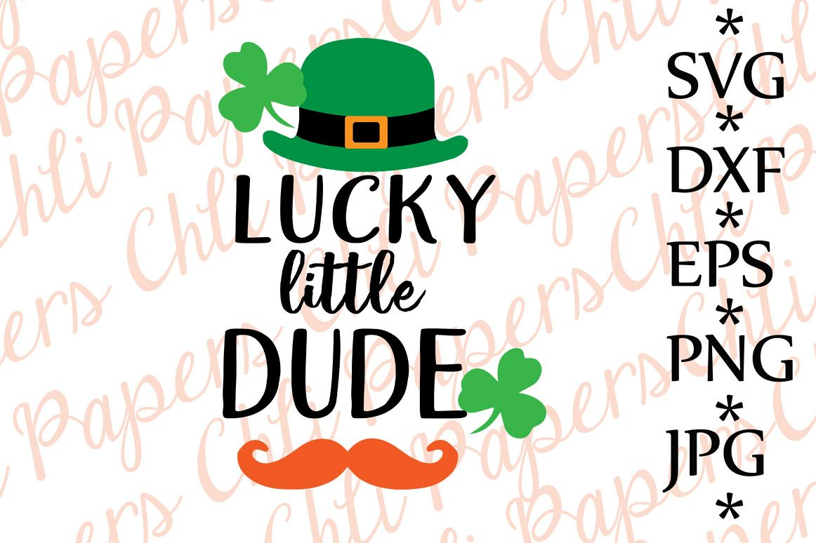 Lucky Little Dude Svg example image 1