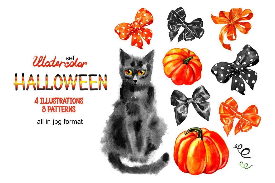 Watercolor Halloween 2 example image 1