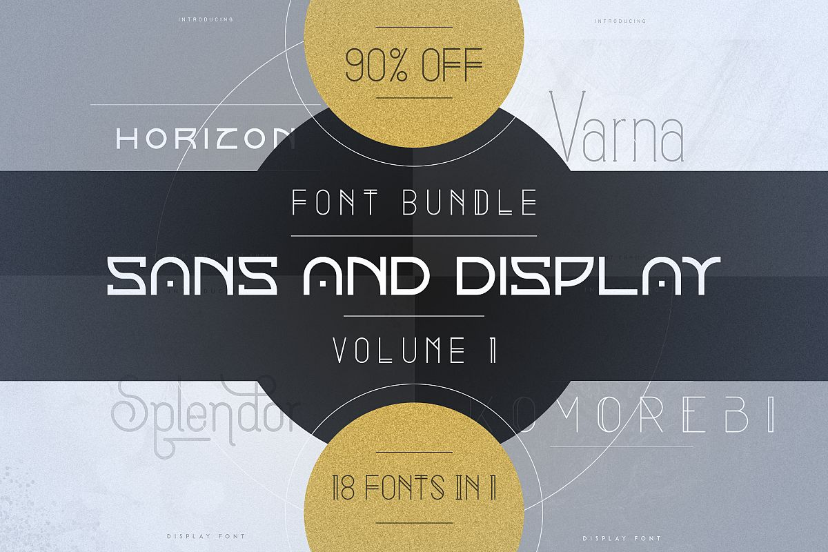 18in1 Sans and Display font bundle | Volume 1 example image 1