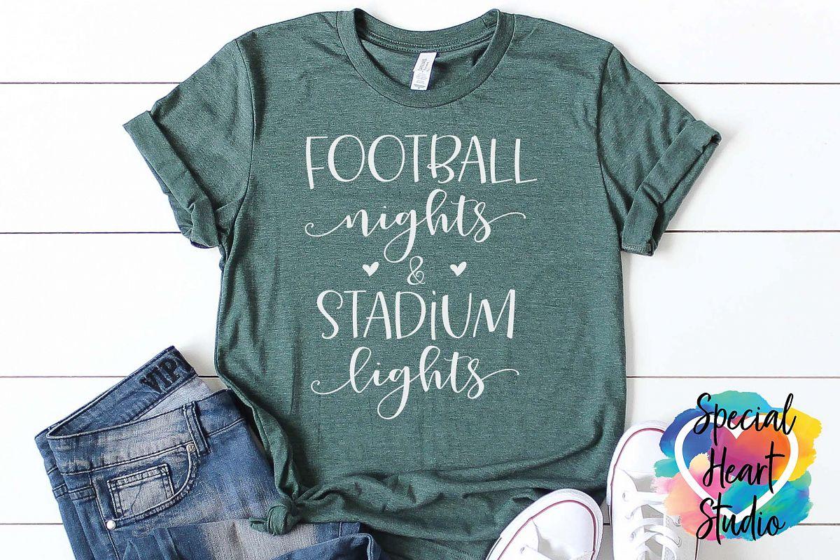 Football Nights & Stadium Lights - A football SVG Cut File example image 1