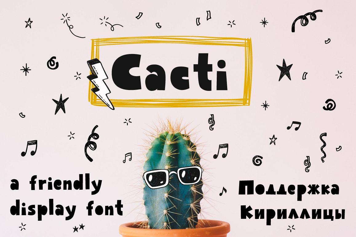 Cacti display font example image 1