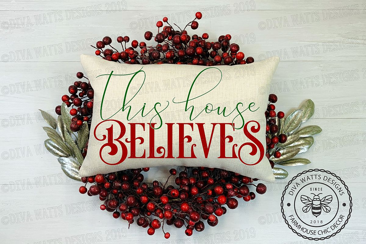 This House Believes Christmas Cutting File Santa example image 1