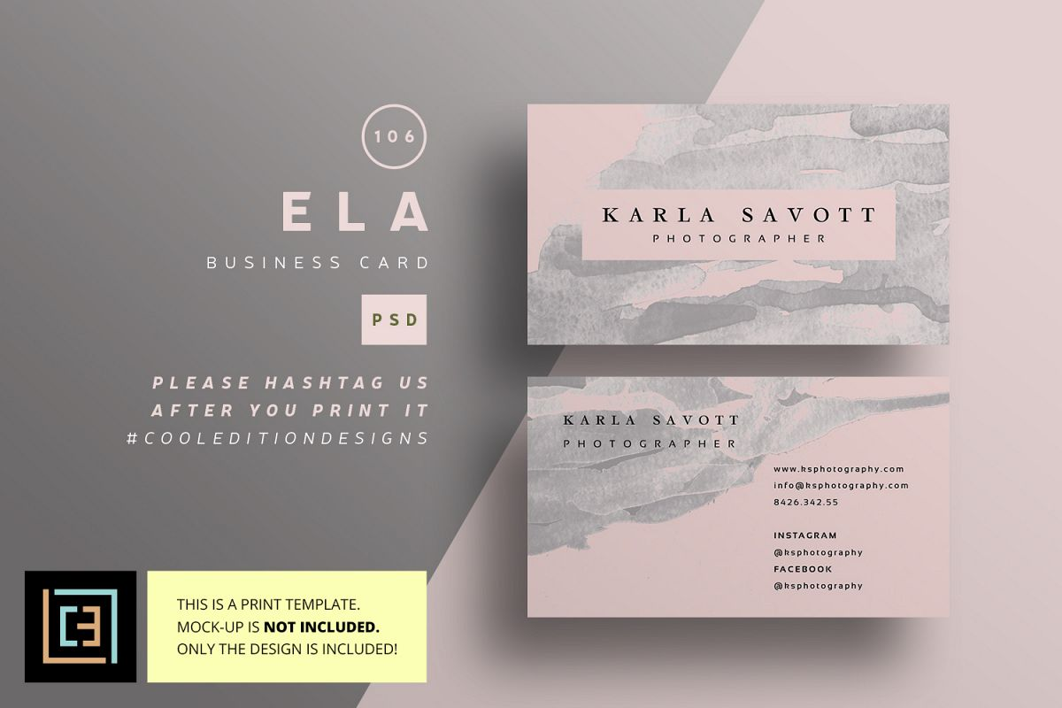 Ela business card bc106 by cooledition design bundles ela business card bc106 example image reheart Choice Image