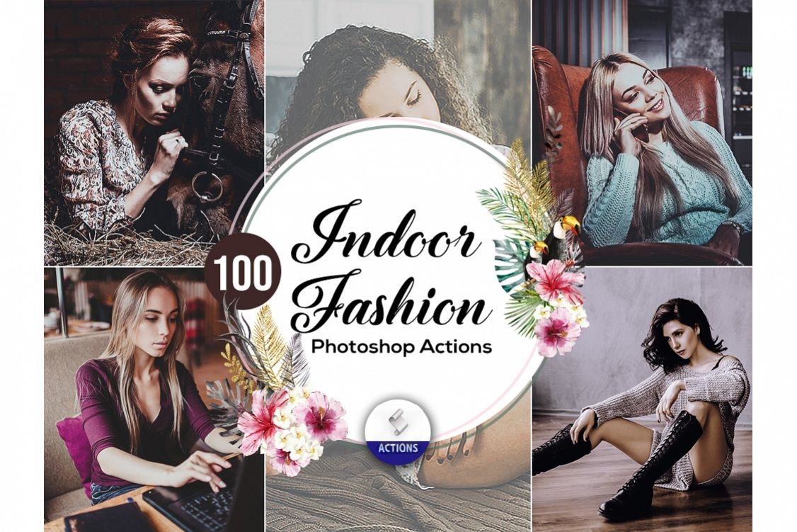 100 Indoor Fashion Photoshop Actions example image 1