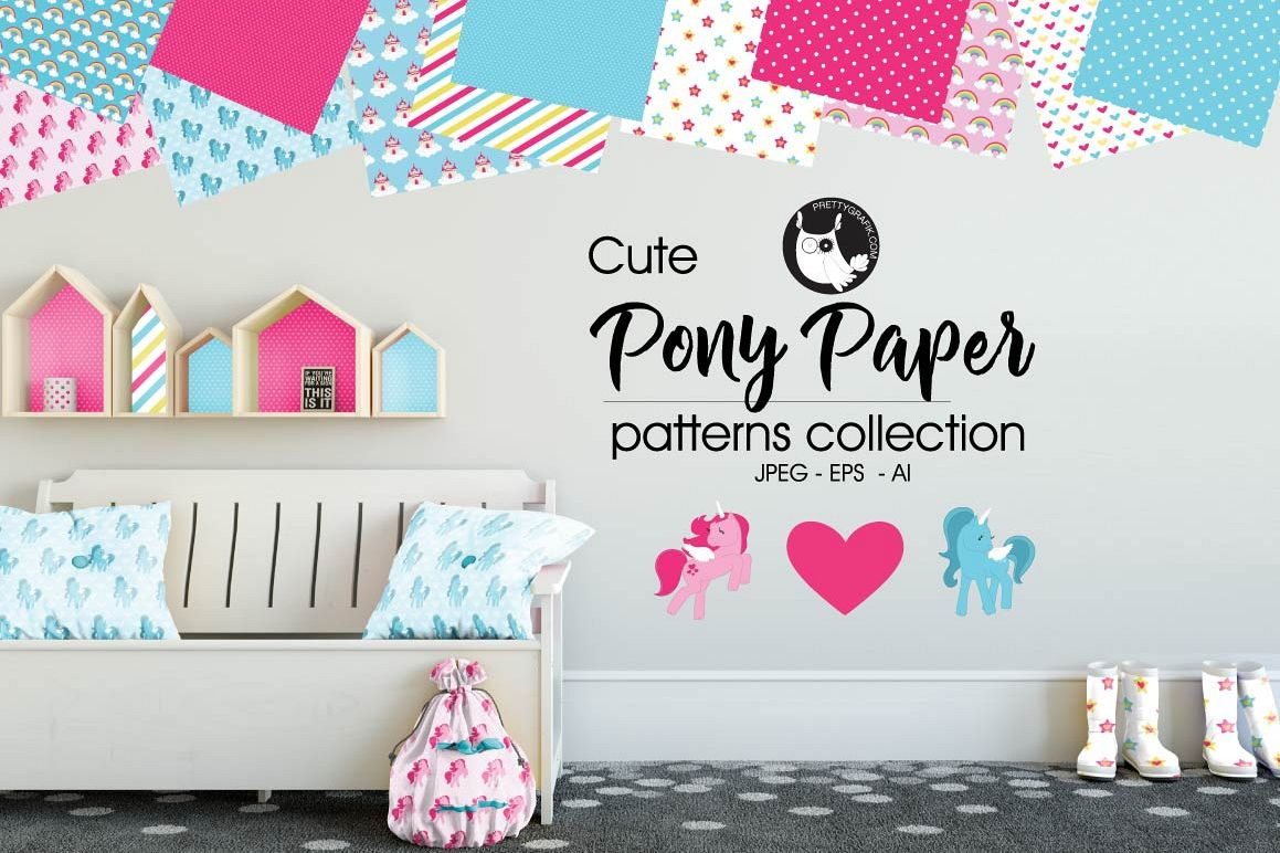 PONY-PAPER, digital papers example image 1