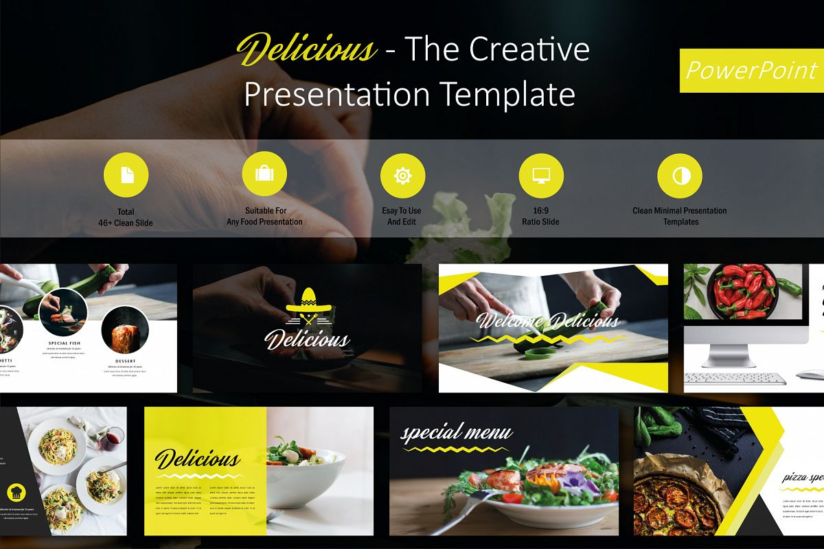 delicious food powerpoint template