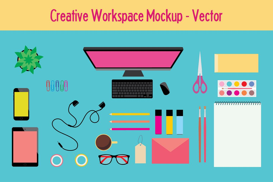 Workspace Mockup / Vector Icons example image 1