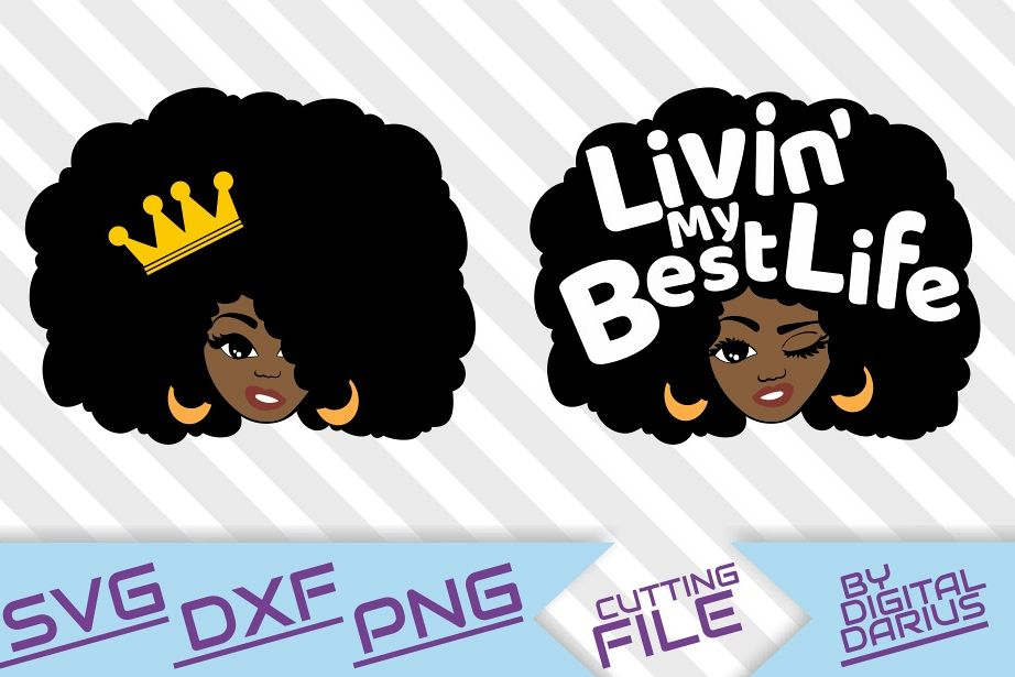 Download 2x Afro Queen svg, Melanin, Black woman svg, Crown svg ...