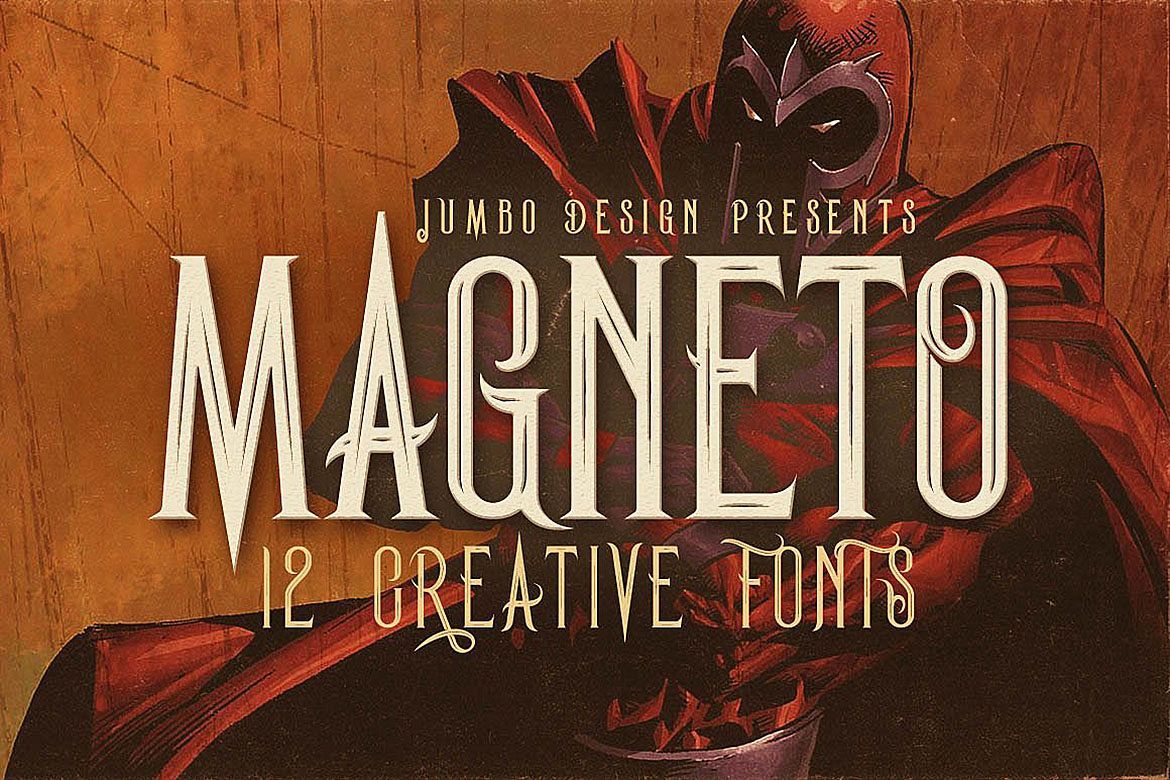 Magneto - Vintage Style Font example image 1