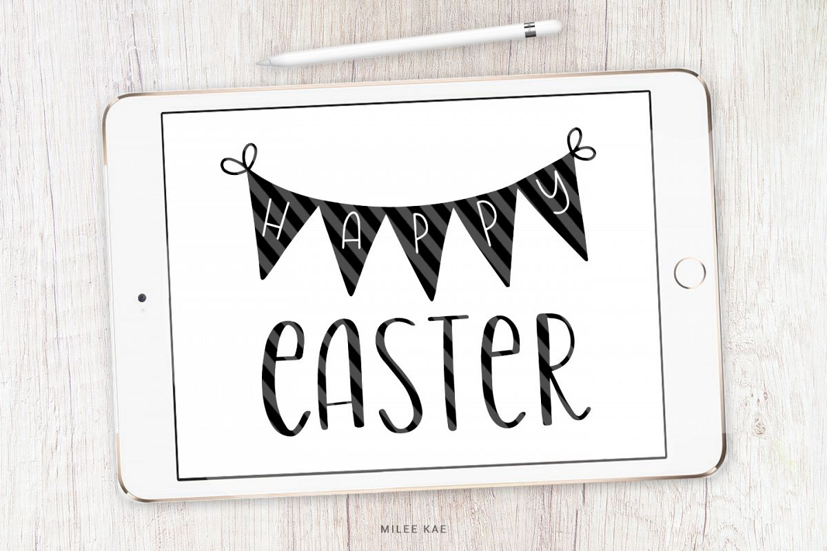 Happy Easter SVG, Cutting file, Decal example image 1