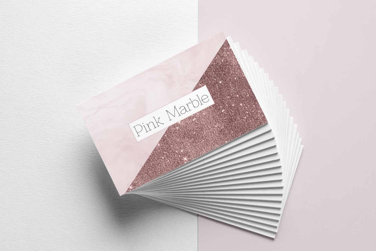 Pink marble and glitter business card template pink marble and glitter business card template example image 1 colourmoves