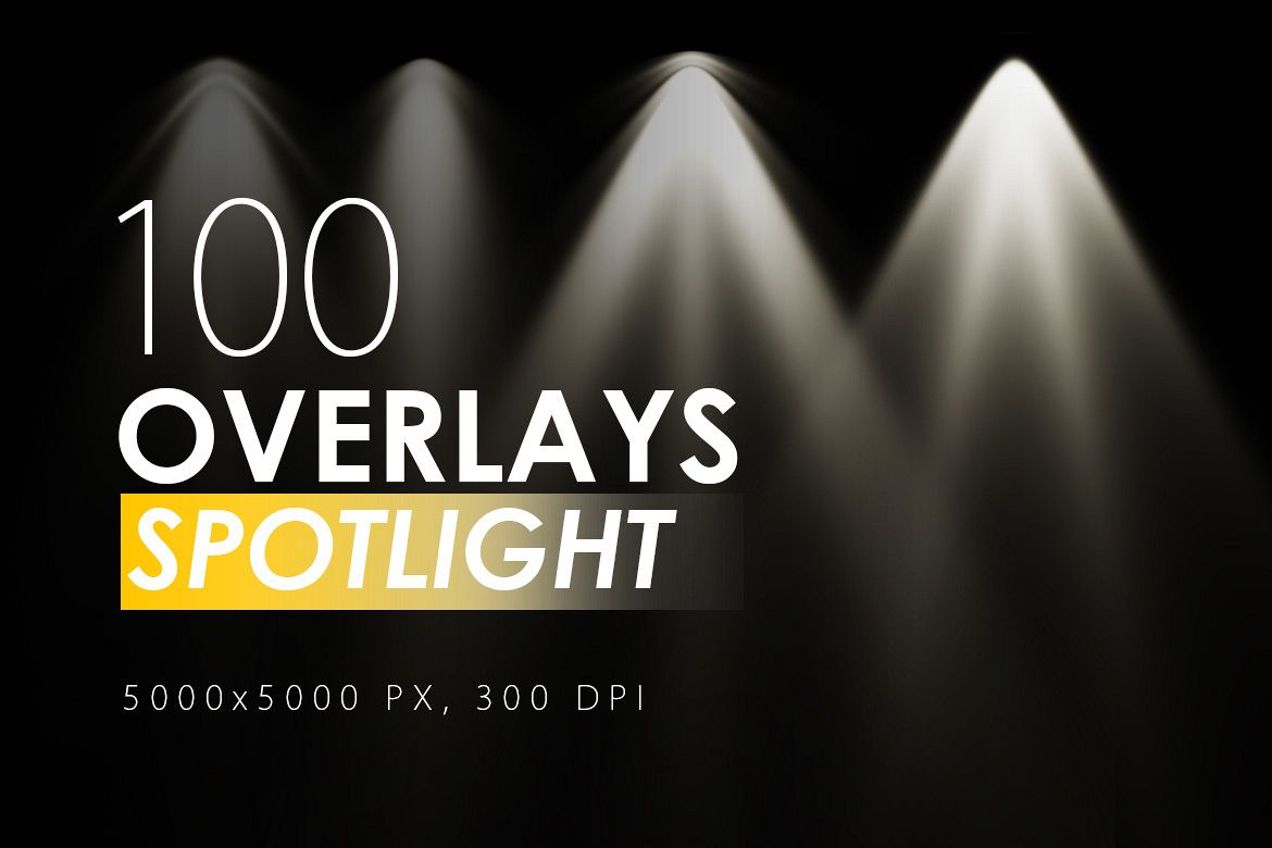 100 Spotlight Overlays example image 1