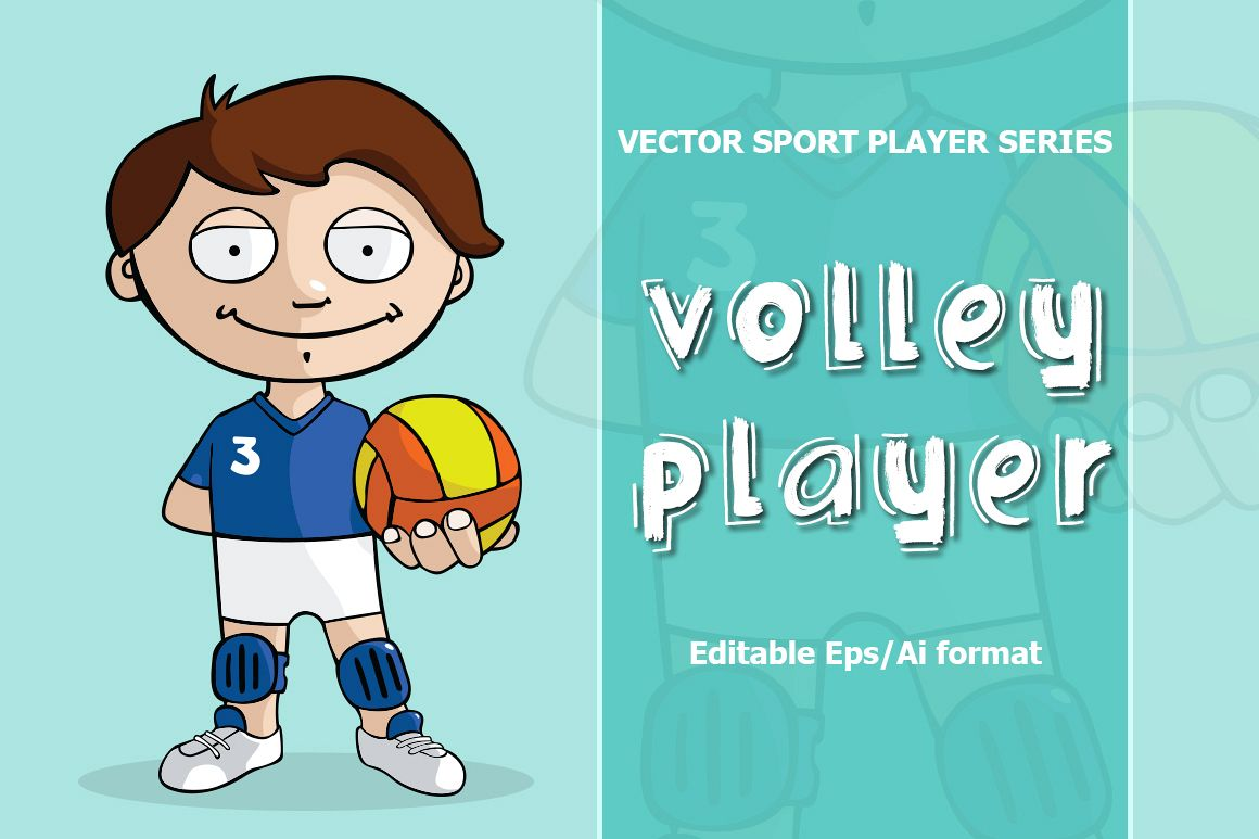 VECTOR Volleyball player example image 1