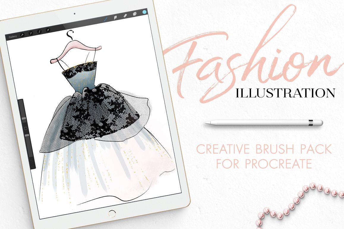 Fashion Illustration Brushes for Procreate example image
