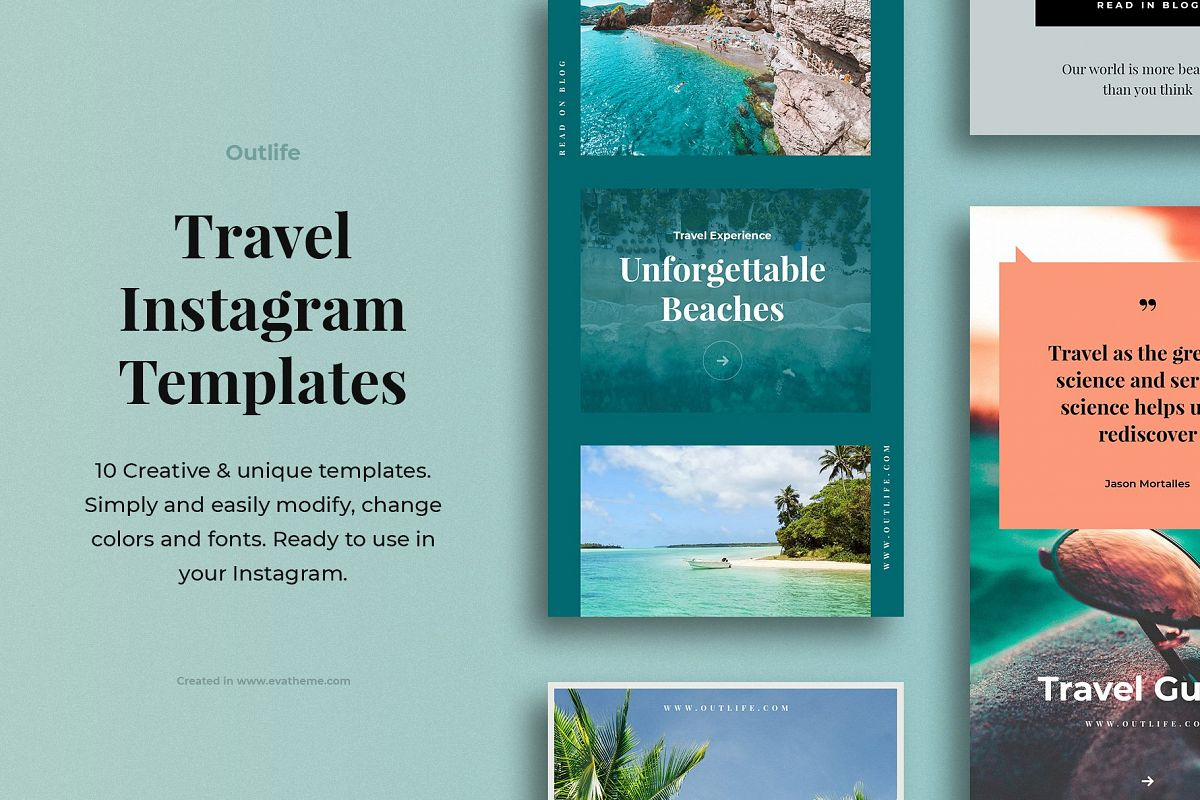 Outlife Travel Instagram Templates example image 1
